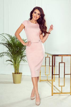 Dámské šaty  301-1 Tamara - NUMOCO pudrovo-růžová