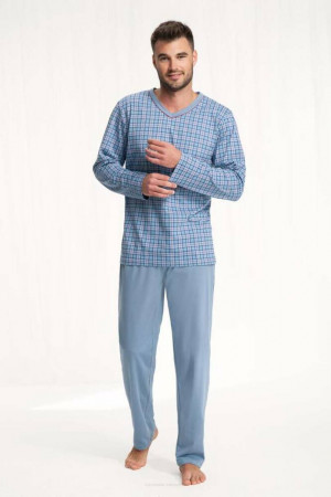 Pánské pyžamo 795 modrý 2XL