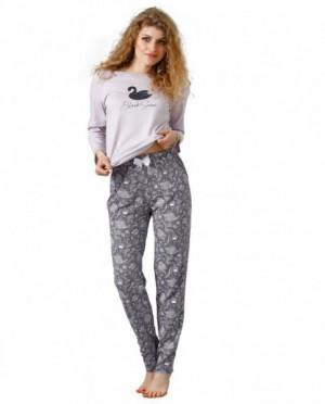 Laveza Mila 1084 Dámské pyžamo S liliová