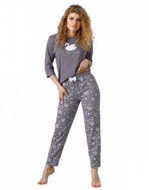 Laveza Milana 1085 Dámské pyžamo S šedá perla