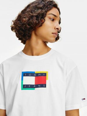 TJM Multicolor Flag Tee Tommy Jeans Bílá
