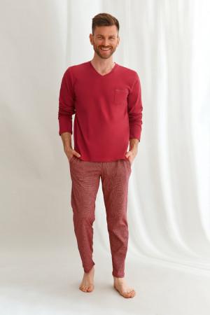 Pánské pyžamo Taro 2638 dł/r Martin M-2XL Z'22 czerwony