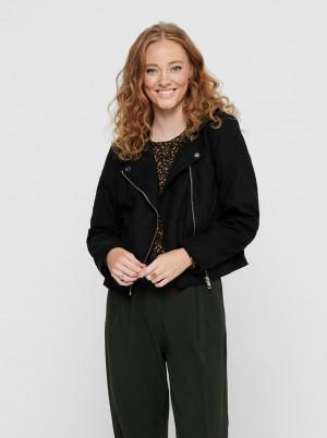 Jacqueline de Yong černá koženková bunda