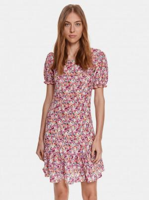 TOP SECRET růžové květované šaty