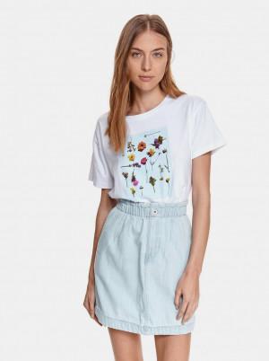 TOP SECRET bílé tričko s potiskem