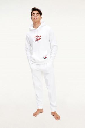 Tommy Hilfiger bílé pánské tepláky Pants LWK