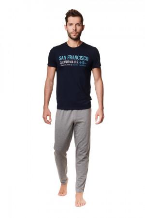 Pánské pyžamo ARRAY 39245 GRANAT-SZARY 2XL