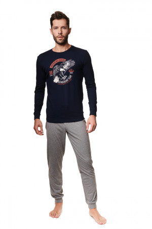 Pánské pyžamo ATLAS 39252 GRANAT-SZARY