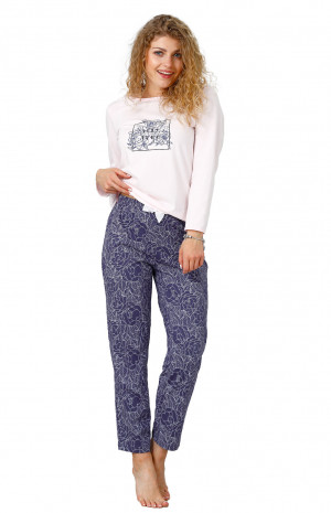 Dámské pyžamo M-Max Celeste 950 dł/r M-2XL różowy