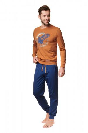 Pánské pyžamo Henderson 39252 dł/r Atlas M-2XL amber