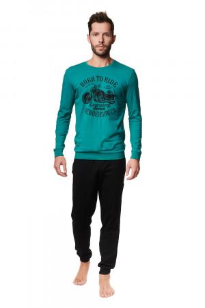 Pánské pyžamo Henderson 39253 dł/r Alpha M-2XL black