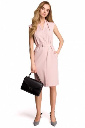 Dámské šaty S102 - Stylove pudrovo-růžová