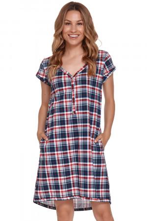 Těhotenská/kojící noční košile Doctor Nap TCB.4361 red-blue l