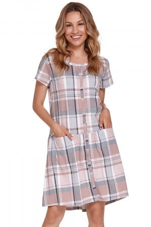 Těhotenská/kojící noční košile Doctor Nap TCB.9444 checkerd l
