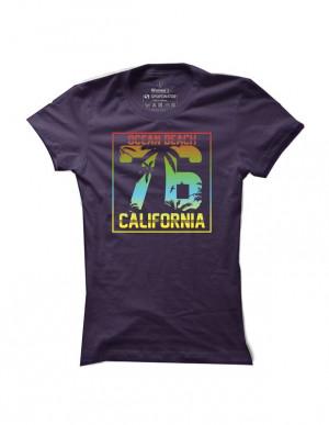 Surfové tričko Ocean Beach California pro ženy