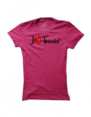 Tenisové tričko I Love Tennis pro ženy