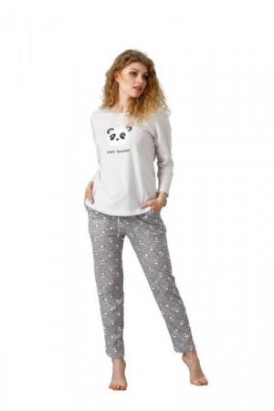 Leveza Pegi 1081 Dámské pyžamo S světle béžová