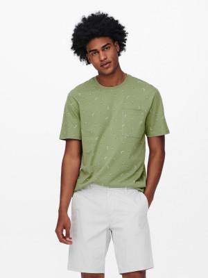 ONLY & SONS zelené pánské tričko Prove