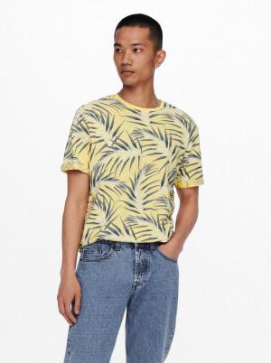 ONLY & SONS žluté pánské tričko Iason
