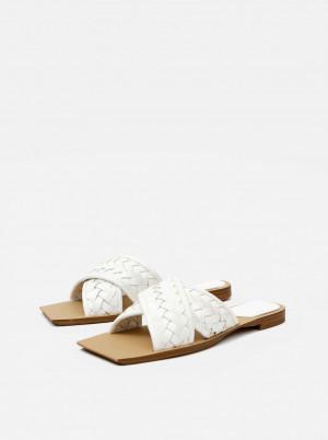 Mango bílé pantofle Drew -