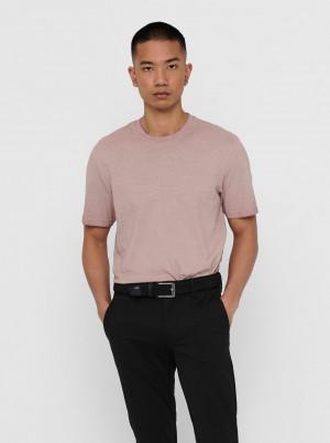 ONLY & SONS pudrové pánské tričko Milenium