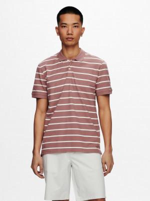 ONLY & SONS pudrové pánské polo tričko Cooper