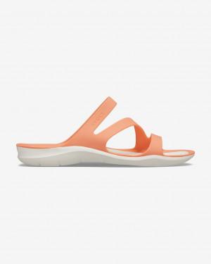 Crocs oranžové pantofle Swiftwater - 41-42