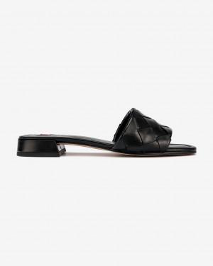 Högl černé kožené pantofle Felina -