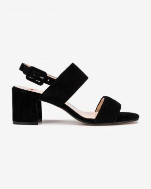 Högl černé kožené boty Pure na podpatku -