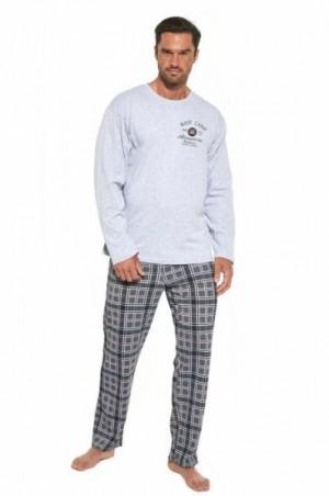 Cornette 124/185 Base Camp 3 Pánské pyžamo M melanž