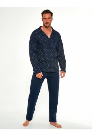 Pánské pyžamo Cornette 114/50 3XL Tm. modrá