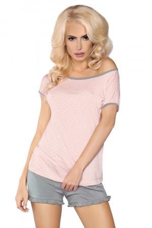 Dámské pyžamo Model 103 - LivCo CORSETTI FASHION šedo-růžová L/XL