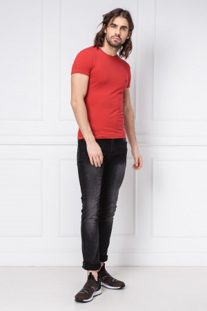 Pánské tričko 111035 9P725 červená - Emporio Armani červená