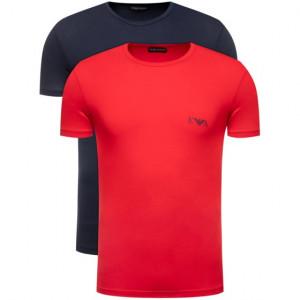 Pánské tričko 2pcs 111670 0P715 18335 modročervená - Emporio Armani modro-červená