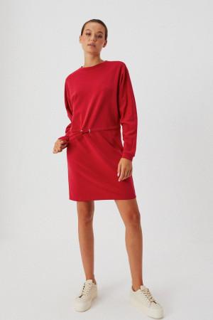 Moodo červené mikinové šaty