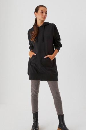 Moodo černé mikinové šaty