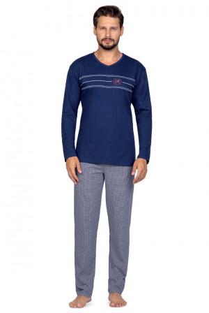 Pánské pyžamo Regina 588 dl/r 2XL-3XL bordowy