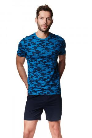 Pánské pyžamo Henderson 39246 Aid kr/r M-2XL blue