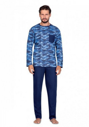 Regina 596 Pánské pyžamo plus size XXL modrá