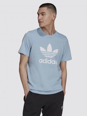 Trefoil Triko adidas Originals Modrá