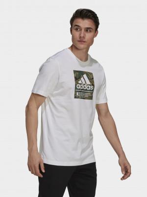 Camo Box Graphic Triko adidas Performance Bílá