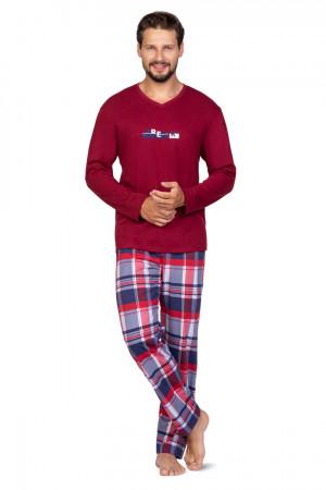 Pánské pyžamo 587 BIG BORDOWY 2XL