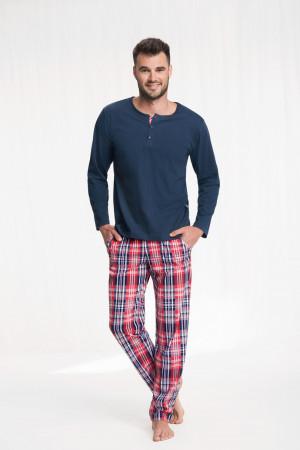 Pánské pyžamo 706 GRANATOWY 2XL