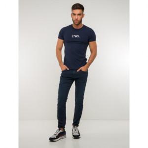 Pánské tričko 1pcs 111267 CC715 27435 tmavěmodrá - Emporio Armani tm.modrá