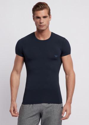 Pánské tričko 1pack 111267 9P720 - Emporio Armani tmavě modrá