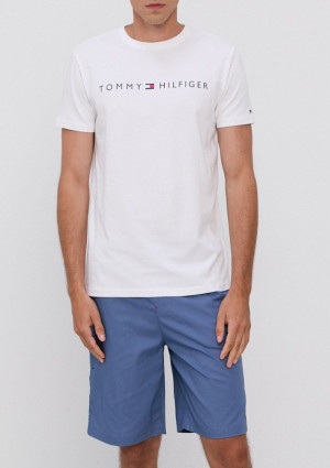 Pánské pyžamo Tommy Hilfiger UM0UM01959 L Bílá