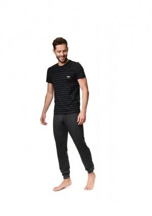 Pánské pyžamo Henderson 39250 2XL Černá