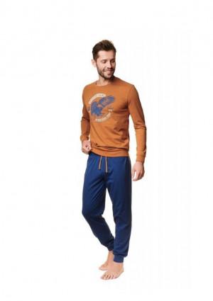 Pánské pyžamo Henderson 39252 2XL Sv. hnědá