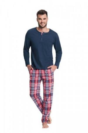 Luna 706 Pánské pyžamo XL tmavě modrá