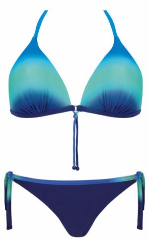 Dvoudílné dámské plavky Hollywood S 555WF19 - Self modro-červená 40D/L